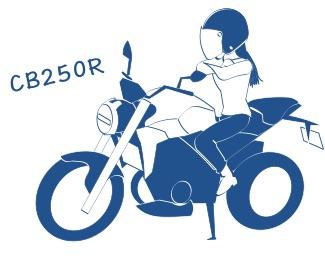 CB250Rの図