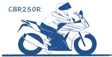 CBR250Rの図