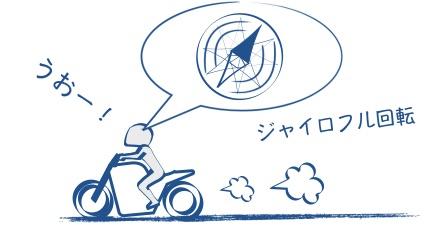 ツーリングでは頭のジャイロをフル回転の図