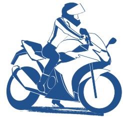 おばさんバイクの免許をとるの図