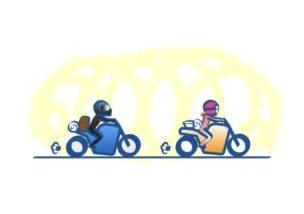 バイクはゆっくり安全に