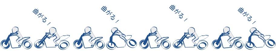 バイクで曲がるのが楽しいの画像