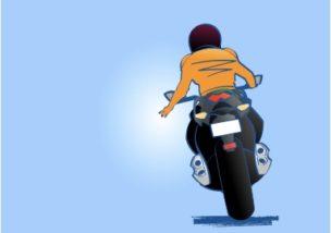 バイクでの追越しはスマートに