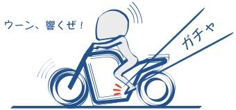 バイクで一束に入れる振動がいい