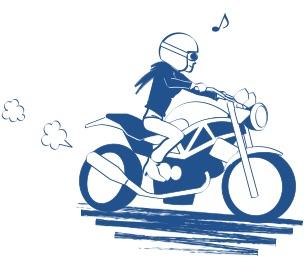 バイクの免許取ったらあとは楽しいだけの図