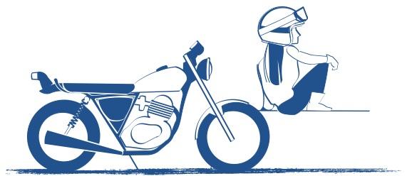 バイクは想いが大切の図
