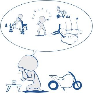 あなたのバイク体験はみんなにとって貴重の図