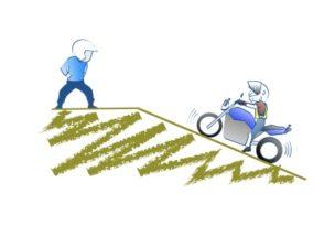 バイクは低速だとノッキングするのの図