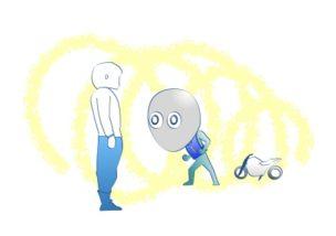 バイク卒検緊張の図