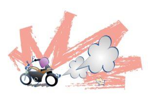 バイクってうるさいの図