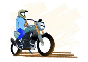 バイクで自分に勇気がもてたの図