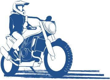 バイクは楽しいの図