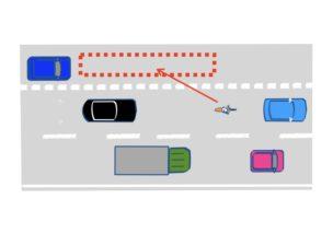 車線変更の仕方の図