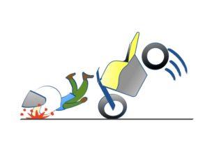 二輪教習はフルフェイスがお勧めの図