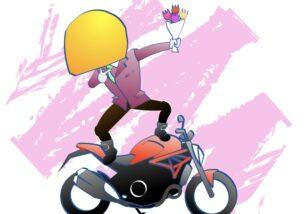 バイク乗りはカッコよくバイク乗りたいの図