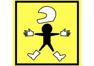 二輪教習で必要な3つのものの図