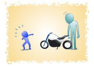 バイクに乗んるセンスは不平等の図