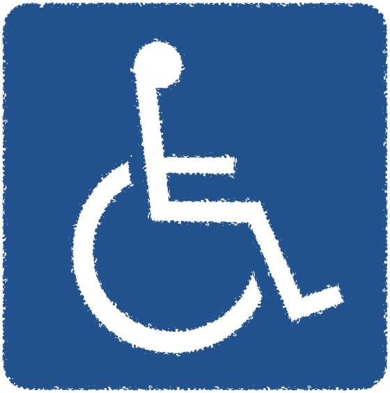 障害者用駐車枠にバイクが停まっていたの図