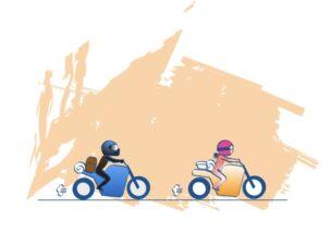 バイクは誰かと一緒なら自然に上手くなれるの図