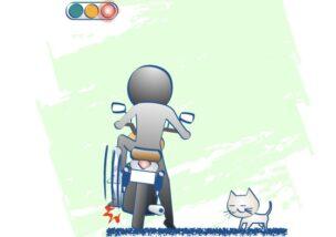 信号待ちでバイクに慣れているかどうかわかるの図