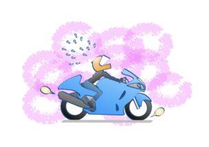 初心者の1300ccより経験者の250ccの方が速いの図