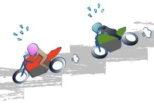 バイクに乗るのは抗加齢の図