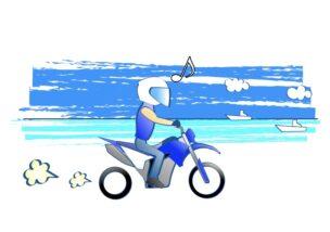 バイクが上手くなると色んな景色が見えてくるの図
