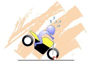 バイクのブレーキは半端に握る